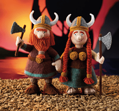victor and vera knitted viking toys